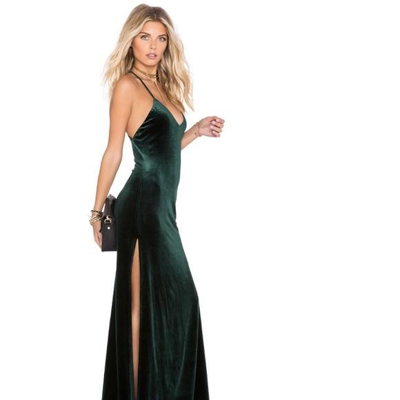 c765ee6830e HOT 🔥 Revolve Green Velvet Maxi dress NWOT. M 5b8b026f74359b07af2180dc